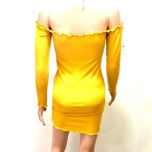 yellow lettuce cut dress